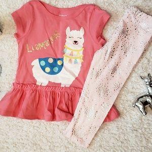 *NWT* Kidgets Baby Girl Llama-zing Legging Set